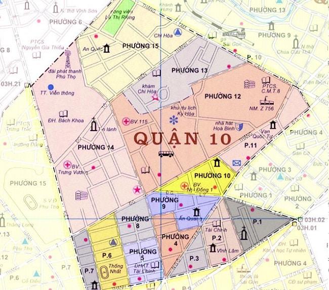 Quận 10 có bao nhiêu phường