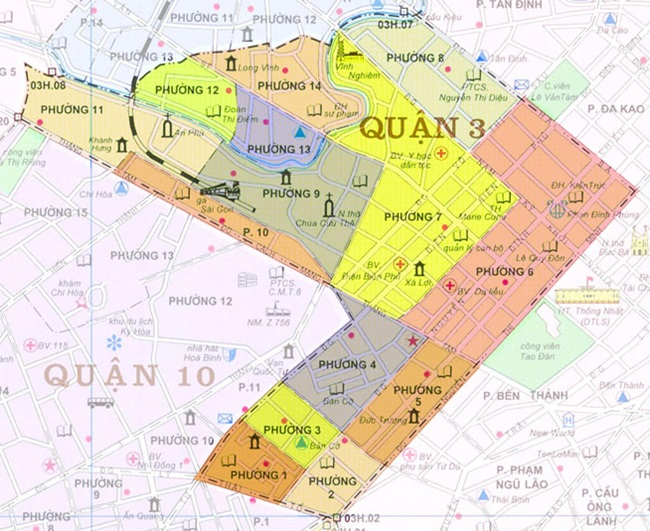 Quận 3 có bao nhiêu phường