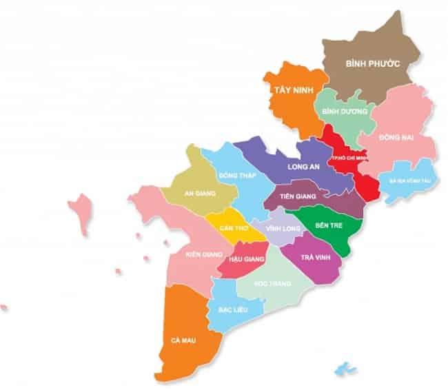 Từ TPHCM đi các tỉnh miền Nam bao nhiêu km