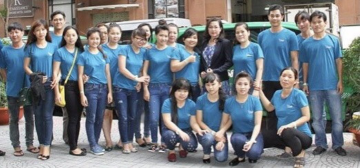 Đội ngũ nhân viên xưởng may áo thun US