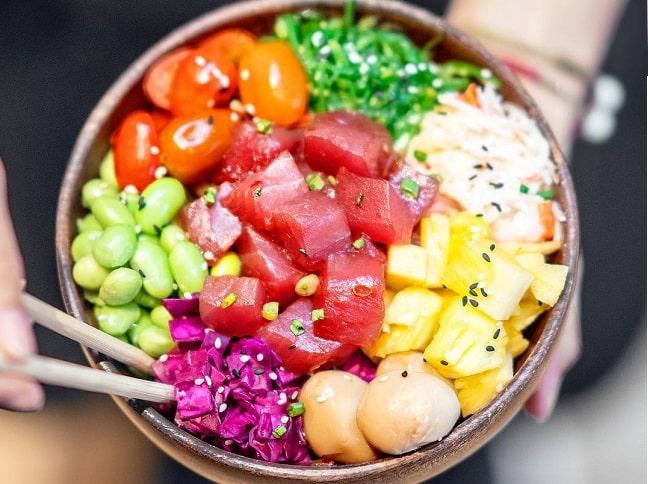 Poke Saigon quán ăn dưới 200.000 đồng