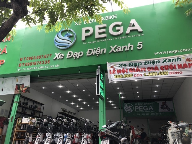 Cửa hàng xe đạp điện Pega TPHCM
