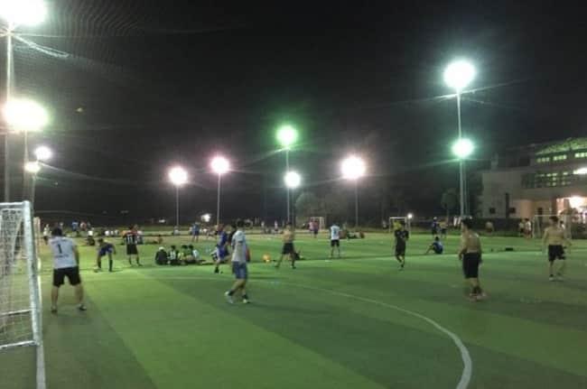 sân bóng đá ĐH Nông Lâm