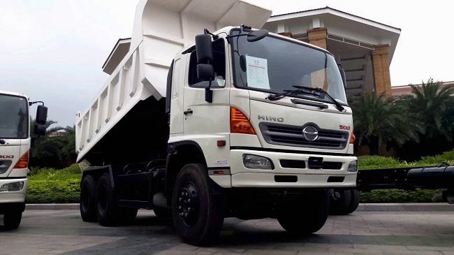 Xe tải ben Hino 3 chân - 15 tấn