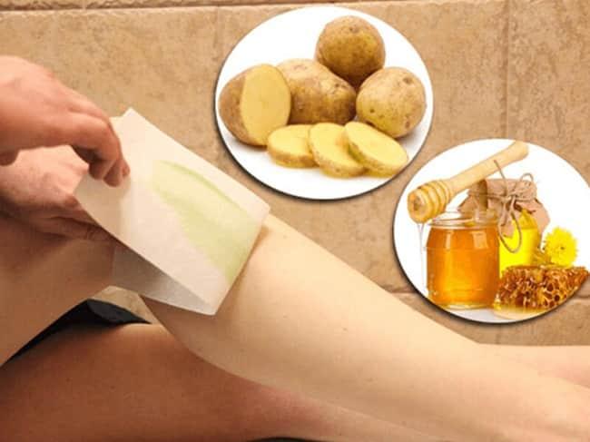 Cách tẩy lông vĩnh viễn tại nhà bằng khoai tây và mật ong