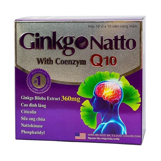 Viên thuốc chống đột quỵ của mỹ Ginko Natto With Coenzym Q10
