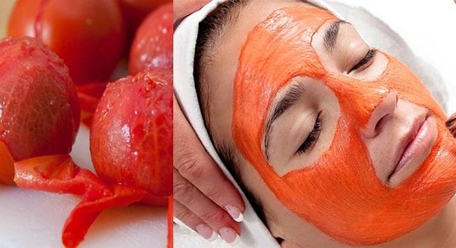 Sử dụng mặt nạ cà chua