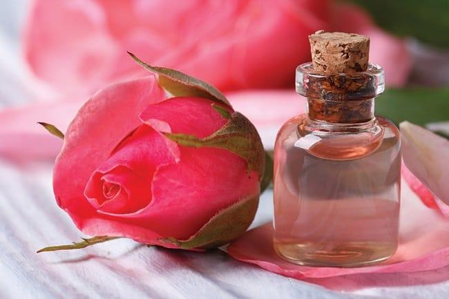 Cách sử dụng nước hoa hồng cho da mụn