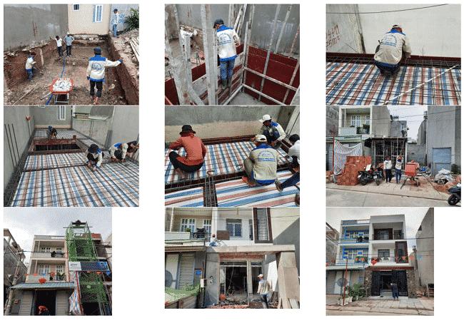 1 số công trình nhà phố xây dựng bởi công ty Tuấn Gia Khang