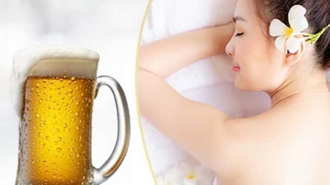 Cách tắm trắng toàn thân tại nha bằng bia