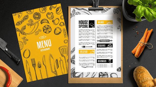 In ấn menu tại Hoàng Nam
