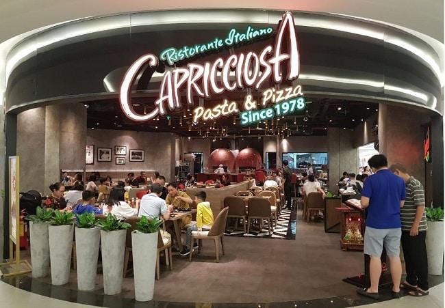 Capricciosa - thương hiệu pizza ngon tại TPHCM