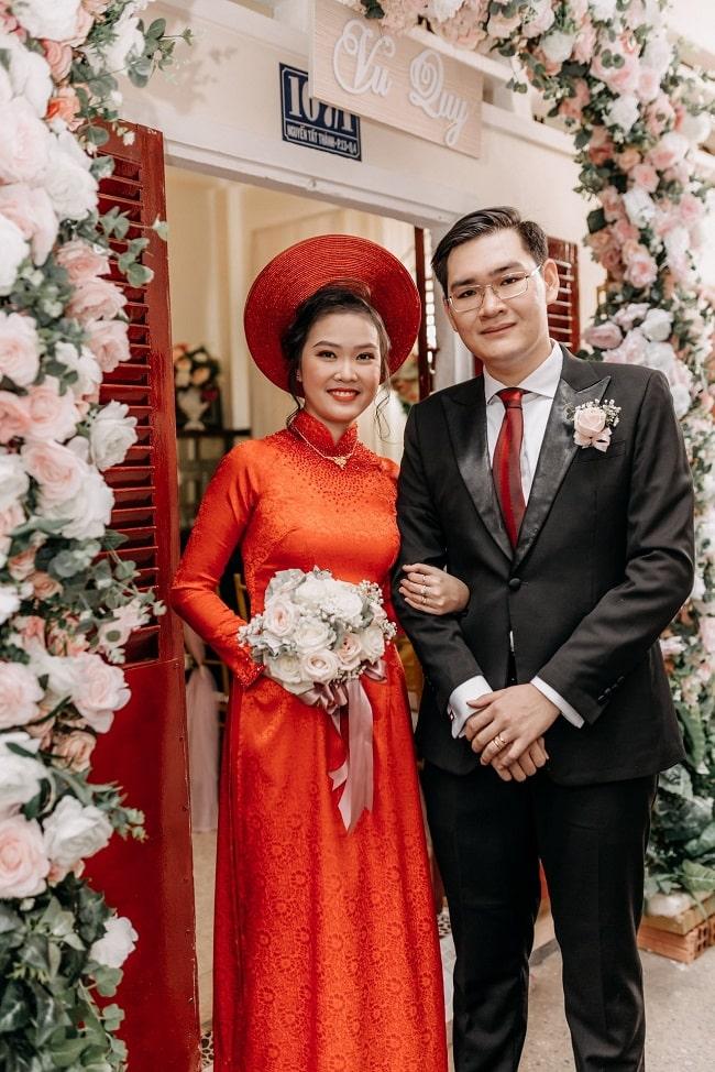 Áo dài cưới Hạnh