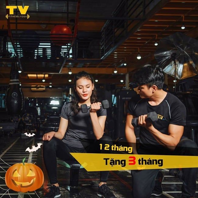 Tập gym tại TV Fitness and Yoga