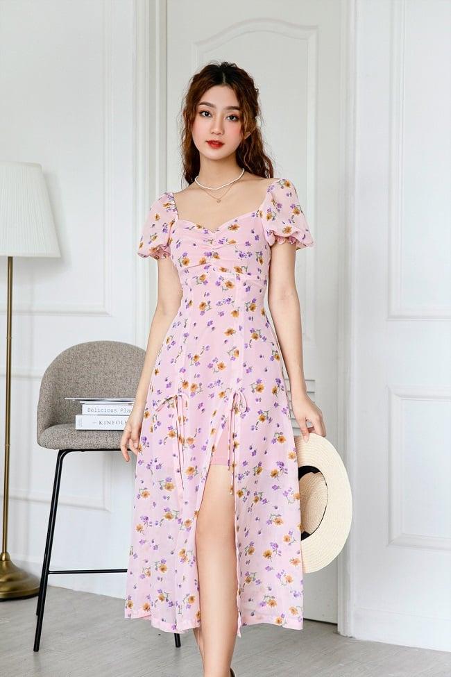 Váy hoa tại Oversize Shop