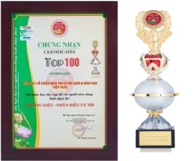 Chứng nhận Top100