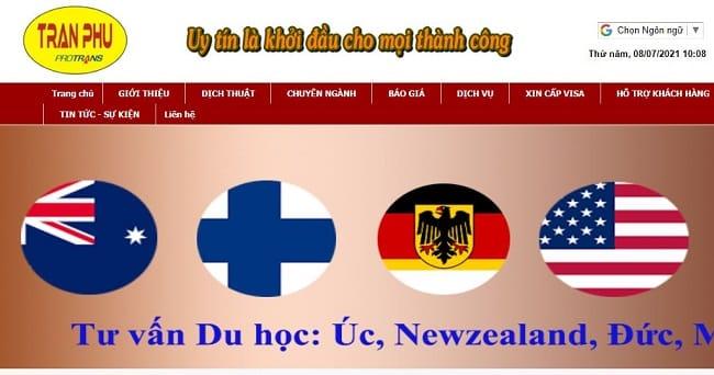 Website Dịch Thuật và Công Chứng Trần Phú