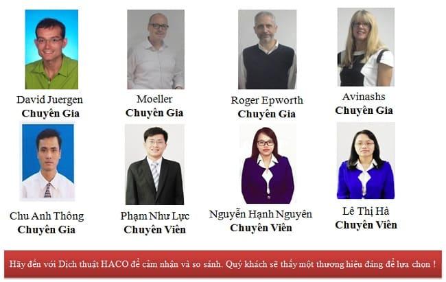 Đội ngũ nhân viên Haco