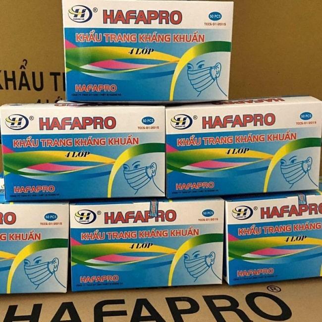 Khẩu trang Hafapro của Công ty Hoàng Hà