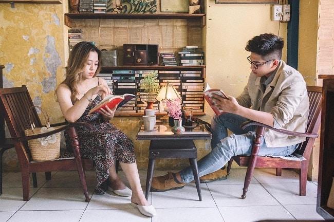 Không gian đọc sách tại 81cafe