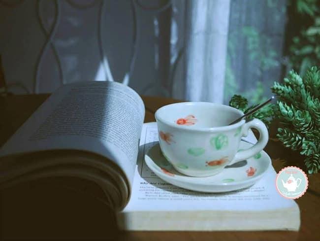 Không gian đọc sách tại Partea - Tea Room