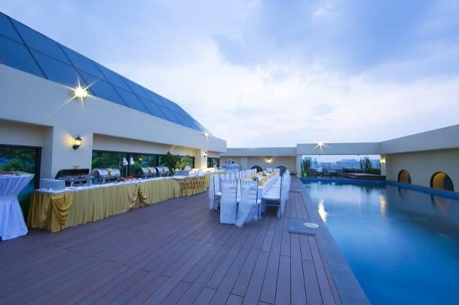 Địa điểm tổ chức tiệc cưới ngoài trời tại MerPerle Crystal Palace