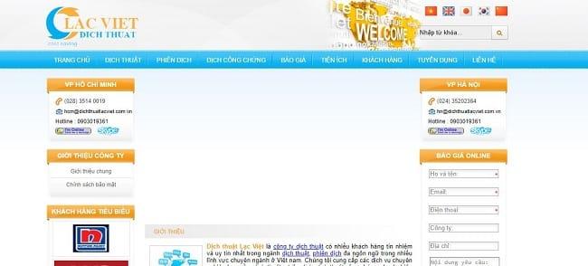 Website Dịch thuật Lạc Việt