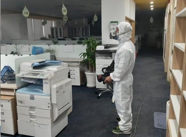 Dịch vụ khử trùng văn phòng tại Hùng Thịnh