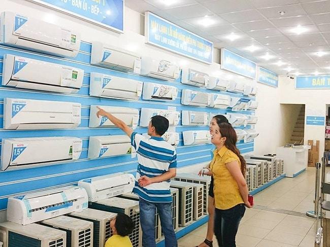 Khu bán máy điều hòa tại Điện máy xanh