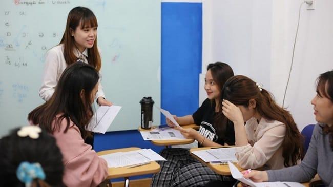 Lớp học tại Trung tâm Saigon American English (SAS)